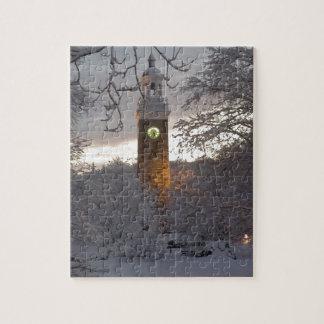 Torre de reloj Nevado Nueva Inglaterra Puzzle