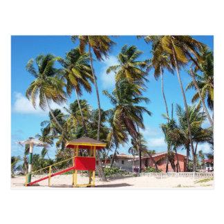 Torre del salvavidas de la playa de Mayaro, postal