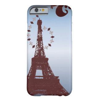 torre Eiffel azul moderna iPhone5case de París del Funda De iPhone 6 Barely There