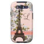 Torre Eiffel con monograma Galaxy SIII Protector