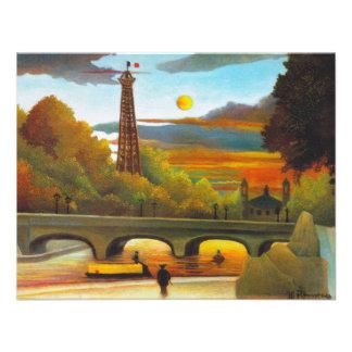 Torre Eiffel de Henri Rousseau en las invitaciones Comunicado Personal