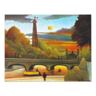 Torre Eiffel de Henri Rousseau en las invitaciones Invitación 10,8 X 13,9 Cm