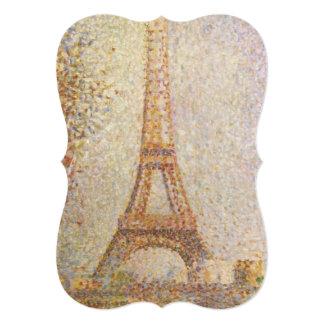 Torre Eiffel de Jorte Seurat Invitación 12,7 X 17,8 Cm