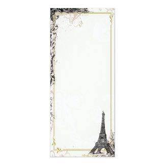 Torre Eiffel de la invitación del estilo del