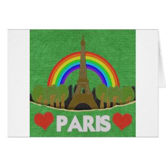 Torre Eiffel de la puntada Tarjeta