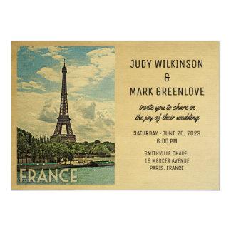 Torre Eiffel de París de la invitación del boda de