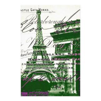 torre Eiffel de París del vintage de Arco del Papelería Personalizada