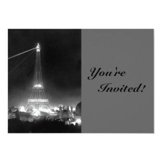 Torre Eiffel de París del vintage Invitación 12,7 X 17,8 Cm