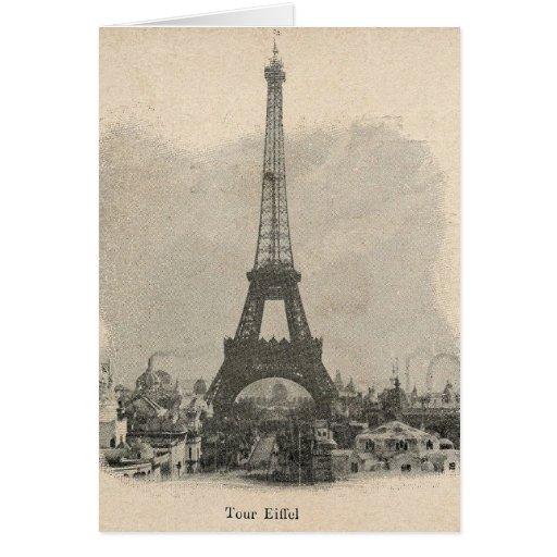 Torre Eiffel de París del vintage Tarjetas