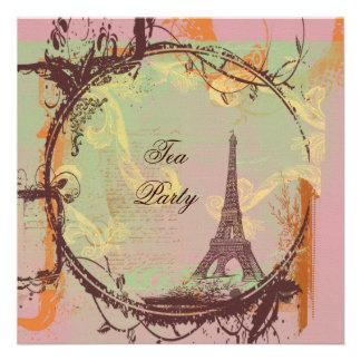 Torre Eiffel de París en rosa Invitación
