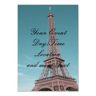 Torre Eiffel de París Invitación 8,9 X 12,7 Cm