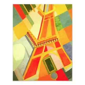 Torre Eiffel de Roberto Delaunay Invitación 10,8 X 13,9 Cm