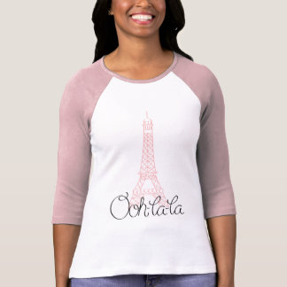 Torre Eiffel del la del la de Ooh Camiseta