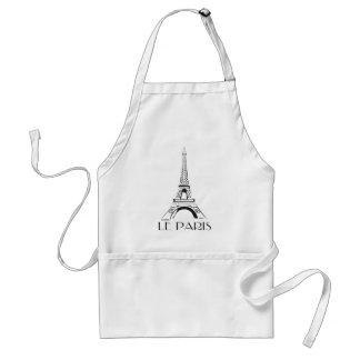 torre Eiffel del le París del vintage Delantal