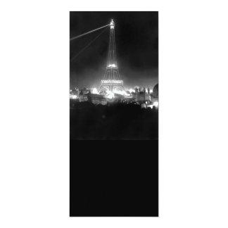 Torre Eiffel del vintage en la noche Invitación 10,1 X 23,5 Cm