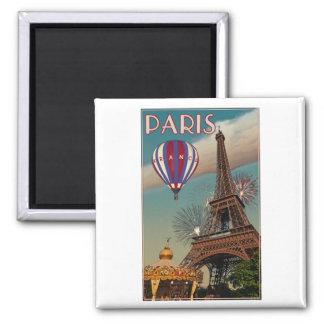Torre Eiffel del vintage Imanes