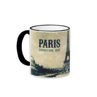 Torre Eiffel del vintage, París, 1889 Taza De Café
