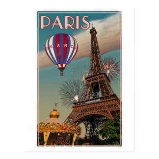 Torre Eiffel del vintage Postal