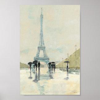 Torre Eiffel el | París en la lluvia Póster