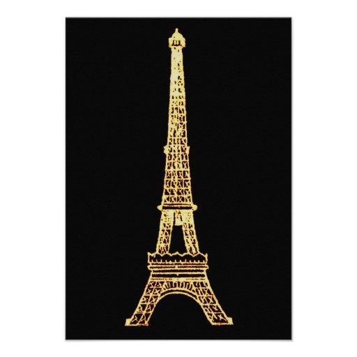 Torre Eiffel elegante francesa de Steampunk París  Comunicado Personalizado
