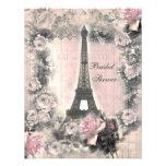 Torre Eiffel elegante lamentable y ducha nupcial d Invitaciones Personales