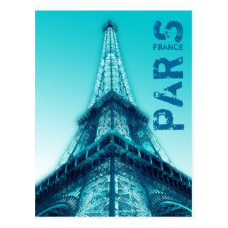 Torre Eiffel en el azul de la postal de París
