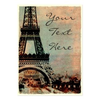 Torre Eiffel en el estilo #2 del vintage de la sal Plantilla De Tarjeta Personal