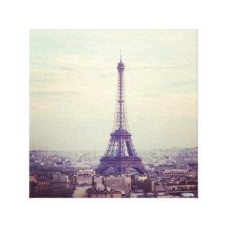 Torre Eiffel en la puesta del sol Lienzo