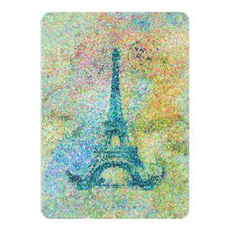 Torre Eiffel femenina de moda hermosa del vintage Invitación 12,7 X 17,8 Cm