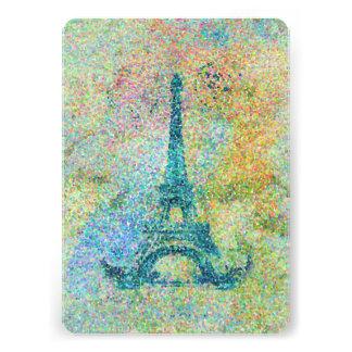 Torre Eiffel femenina de moda hermosa del vintage Invitacion Personalizada