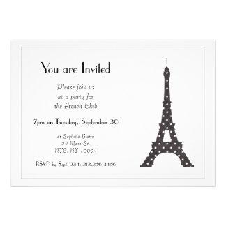 Torre Eiffel francesa blanco y negro de los Anuncio Personalizado