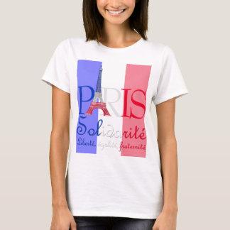 Torre Eiffel francesa Solidarité Liberté de la Camiseta
