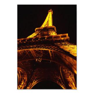 torre Eiffel Invitación 8,9 X 12,7 Cm