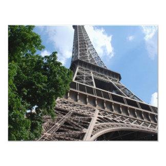 Torre Eiffel Invitación 10,8 X 13,9 Cm