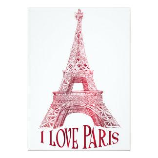 Torre Eiffel Invitación 12,7 X 17,8 Cm