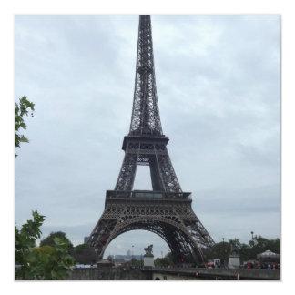 Torre Eiffel Invitación 13,3 Cm X 13,3cm