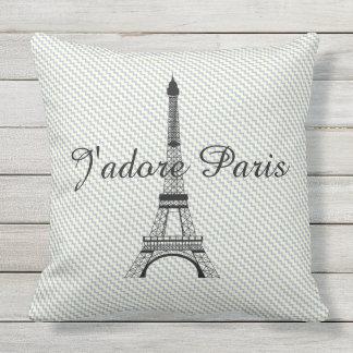 Torre Eiffel J'adore París Cojín Decorativo
