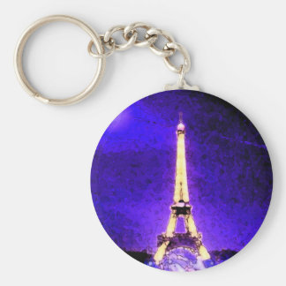 Torre Eiffel Llavero Redondo Tipo Chapa