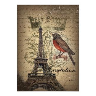 Torre Eiffel moderna de París del vintage del Invitación 12,7 X 17,8 Cm