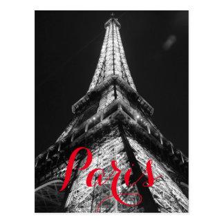 Torre Eiffel negra y blanca París Francia clásica Postal