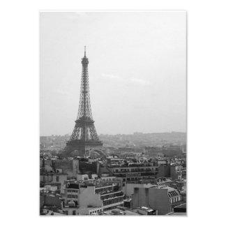 Torre Eiffel (negro y blanco) Foto