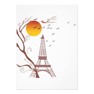 Torre Eiffel otoño Invitaciones Personales