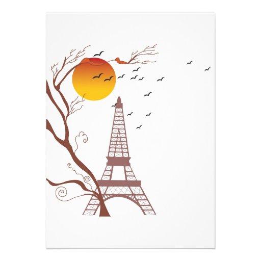 Torre Eiffel, otoño Invitaciones Personales