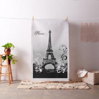 Torre Eiffel París (B/W) tela de la tapicería