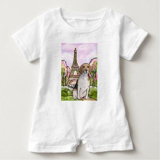 torre Eiffel París del beagle Body Para Bebé
