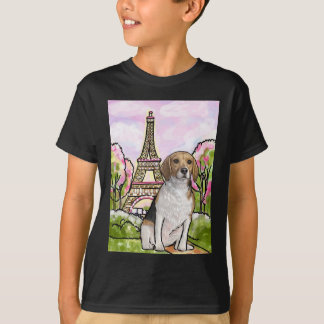torre Eiffel París del beagle Camiseta