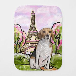 torre Eiffel París del beagle Paños Para Bebé