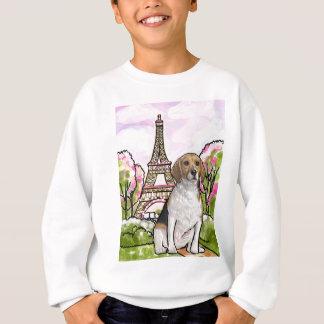 torre Eiffel París del beagle Sudadera