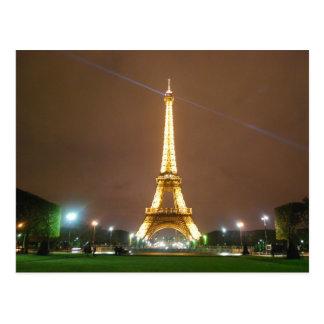 Torre Eiffel París Francia - vacaciones de la Postal