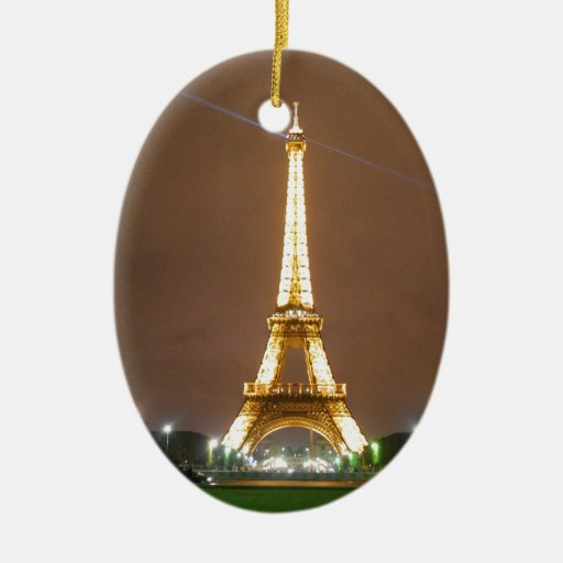 Torre Eiffel París Francia - vacaciones de la prim Ornamentos De Reyes